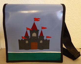 """Kindergartentasche """"Ritterburg"""" aus Blachen"""
