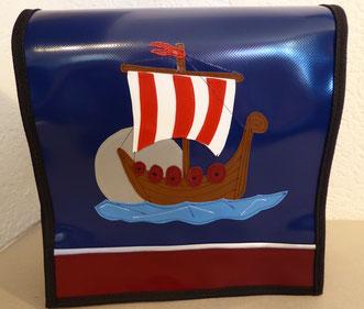 """Kindergartentasche """"Wikingerschiff"""" aus Blachen"""