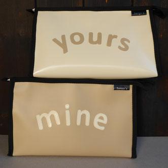 """Necessaires """"mine & yours"""""""