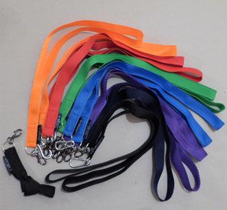 Schlüsselbändel farbig / schwarz