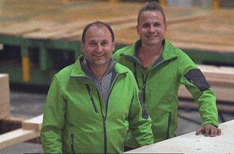 ein erfolgreiches Gespann - Firmenchef Reinhold Tschabitscher mit seinem Junior Andre