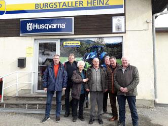 Heinz Burgstaller sen. mit Gattin und  5 ehem. Lehrlinge