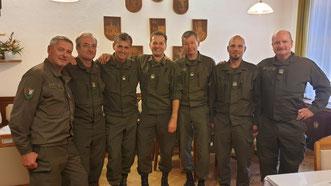 Das Team der AUF/AFH MilKdoK mit Reindl, Grote und Faller