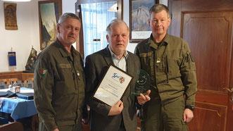 Roland Zellot wurde für seine langjährige PV-Tätigkeit geehrt
