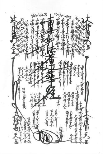 日蓮大聖人が弘安4年5月15日に顕わされた大曼陀羅の写し