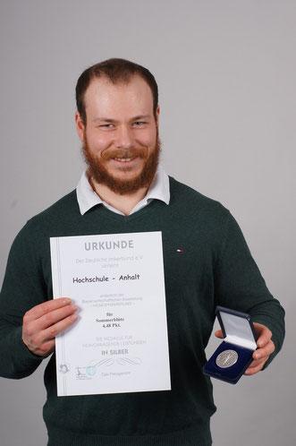 Student Sebastian Lella Campushonig - Silbermedaille