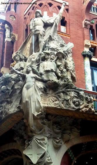 дворец каталонской музыки, дворец музыки барселона, мунтанер дворец музыки