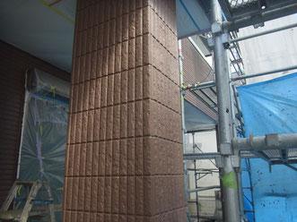 熊本市北区〇様家の外壁塗装完成。ブラウンでおしゃれに塗替え完成。