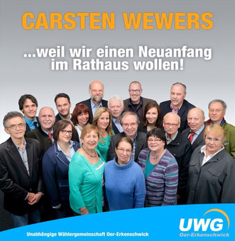 Carsten Wewers (CDU), Bürgermeisterkandidat 2015