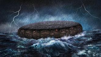 Una tablilla babilónica del año 1.750 a. C. habla sobre un arca como el de Noé, pero redonda. / Óscar Sacristán/ © SINC