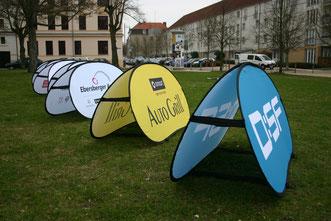 Flexboards als mobiles Werbedisplay