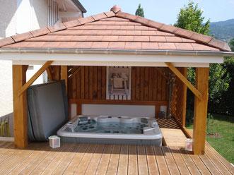 Auvent appentis et abris spa concretabris for Kiosque exterieur
