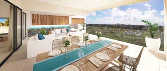 résidence TROPICA VIEW appartements avec piscine VUE MER ile maurice R+2