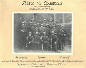 Zeitfreiwillige der Burschenschaft Frisia, 1920. Städtisches Museum Göttingen