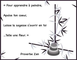 Illustration vectorielle d'un proverbe Zen Asiatique réalisé par Cloé Perrotin pour un sophrologue d'Aix-les-bains