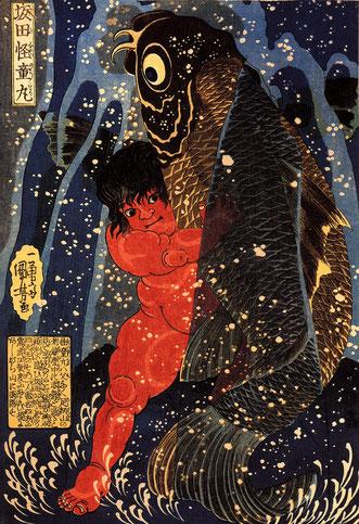 Kintaro, Goldjunge, Japanese Tattoo, Japanische Tattoos, Japantattoo, Japanische Mythologie, Japanische Folklore