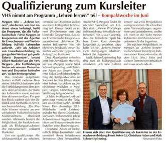 Emsland-Kurier Meppen vom 1. April 2018