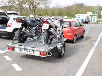 Motorradtransport Frankreich