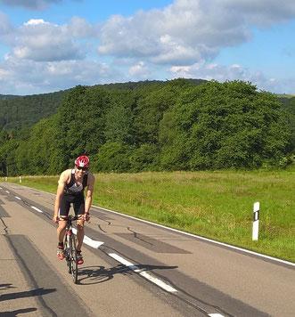 Stefan Altenhofer beim Anstieg in Richtung Oberkirchen