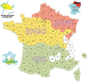 L'alliance halieutique et les 91 départements réciprocitaires