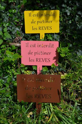 """©IDfer, étiquette de jardin Happiness """"REVES"""""""
