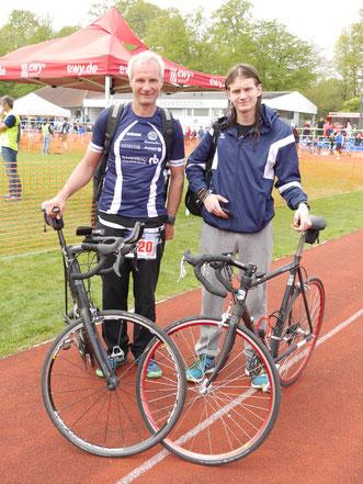 Detlef und Arwed Meinert kämpfen in dieser Saison um die Führung in der Familien-Rangliste.