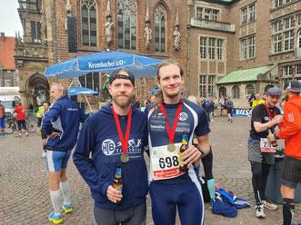 Philipp Pospich und Arwed Meinert wagten sich auf die volle Marathondistanz.
