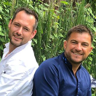 David Gallienne et Eric Guérin à Giverny au Jardin des Plumes
