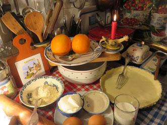 Tarte à l'orange - Les ingrédients
