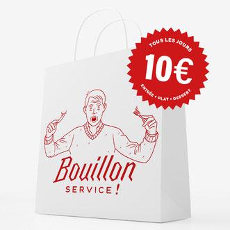 Vente à emporter Bouillon Service !