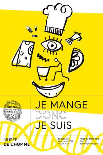 """""""Je mange donc je suis"""" au Musée de l'homme à Paris"""