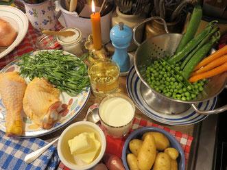 Poulet à l'Estragon - Les ingrédients - Gourmandises TV
