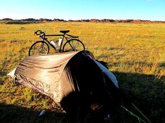 mein Einmann-Wolfskin-Zelt