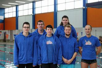 Unsere Trainer der Schwimmabteilung (Stephanie Ullrich ist nicht im Bild)