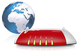 fritzbox weltweit