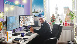 """Christmas donation: meteocontrol supports """"Der Bunte Kreis"""" with a Charity Challenge."""