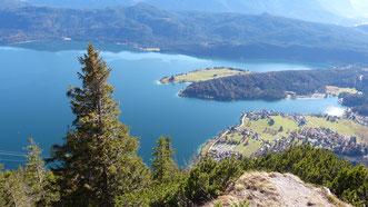 Blick auf den Walchensee vom Herzogstand aus
