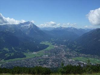 Blick vom Wank auf die Zugspitze