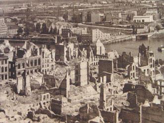 Endes des Krieges wurde die Altstadt zu 90% zerstört