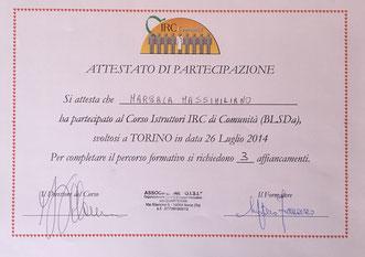 istruttore BLSD Massimiliano Marsala
