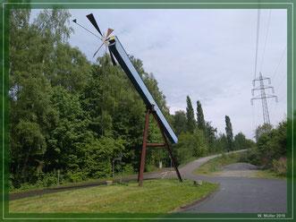 Windwaage an der Halde Rheinelbe -  Foto W. Müller