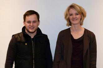 Herr Dens Karrasch und Frau Johanna Thomsen, beide KAV Gymnasium Celle