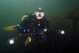 Detlev unter Wasser