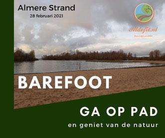 Almere Strand winter barefootwandelen