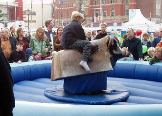Rodeo-Bulle, Bullriding, Bullen reiten mieten