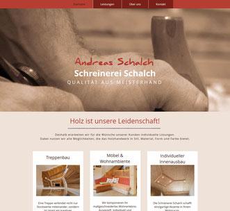 Webseite Schreinerei Andreas Schalch