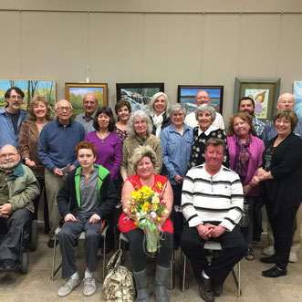 Members and Family of Ruth and Jack Crown at Ruth Crown Memorial Exhibit 2015