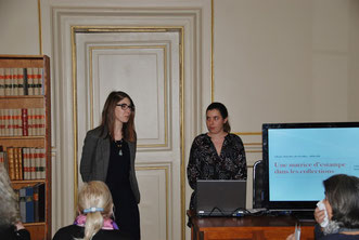 Agathe Jagerschmidt, directrice du musée et Johanna Daniel, conférencière du jour