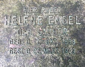 Grabplatte Helene Sauber