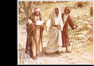 de gestalte van een rabbi - de Emmaüsgangers